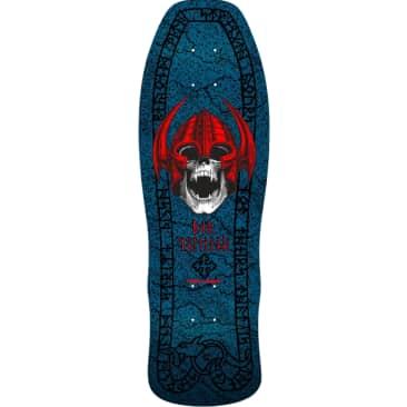 "Powell Peralta Welinder Nordic Skull Skateboard Deck Blue 9.625"""