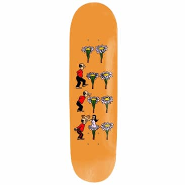Pass~Port Skateboards - Pass~Port What U Thought Flowers Skateboard Deck Orange | 8.38""