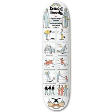 """The Drawing Boards - Gentlemens Guide Deck 8"""" Wide"""