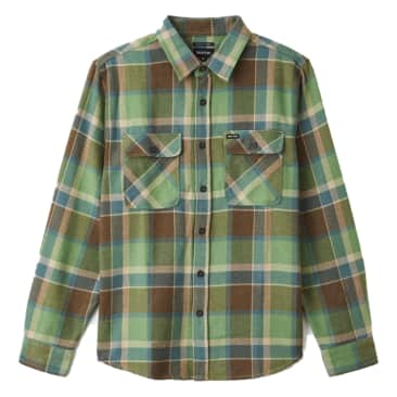 Brixton - Bowery L/S Flannel Shirt - Toffee