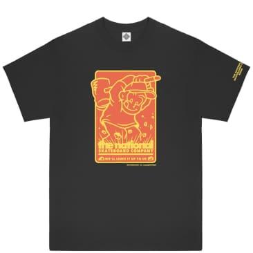 The National Skateboard Co Hook Up T-Shirt - Black