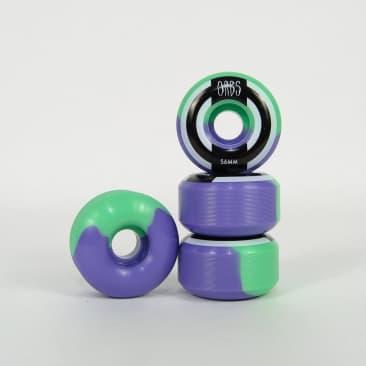 Welcome Skateboards - 56mm (99a) Orbs Apparitions Splits Wheels - Mint / Lavender