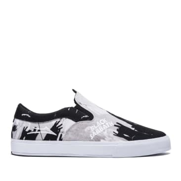 Lakai x Black Sabbath Owen VLK Canvas Skate Shoes - Black / White