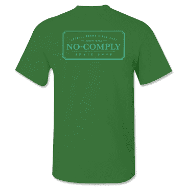 No-Comply Locally Grown Shirt - Forest Green Emerald