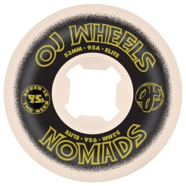 OJ Wheels - OJ Elite Nomads Skate Wheels White | 95A