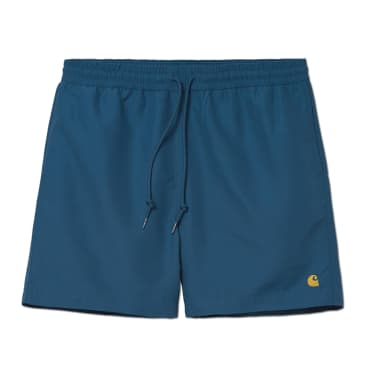 Carhartt WIP Chase Swim Trunks - Shore / Gold