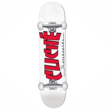 Cliche Banco Red/White Youth Complete Skateboard - 7.5