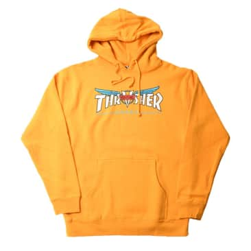 thrasher x venture collab hood (yellow)
