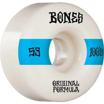 Bones 100's V4 Wide 53mm Wheels (White)