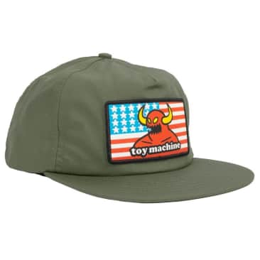 TOY MACHINE American Monster Hat Army Green