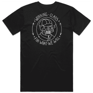 Working Class Skull Cap T-Shirt - Black / White