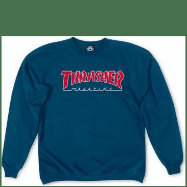 Thrasher Outlined Logo Crewneck - Navy