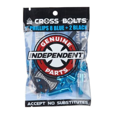 """Genuine Parts 1"""" Blue Phillips Cross Bolts"""