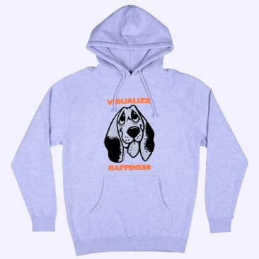 Quasi Happiness Hoodie - Heather Grey