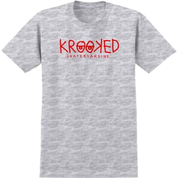 Krooked S/S Krooked Eyes T-Shirt (Ash/Red)