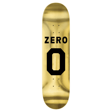 Zero Deck Numero Black Gold Foil 8.375""