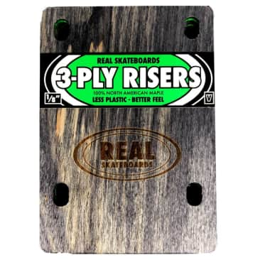 Real Skateboards Green 3 Ply 1/8th Inch Riser