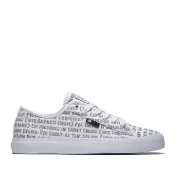DC Shoes x Bobs Burgers Manual Canvas Skate Shoes - White