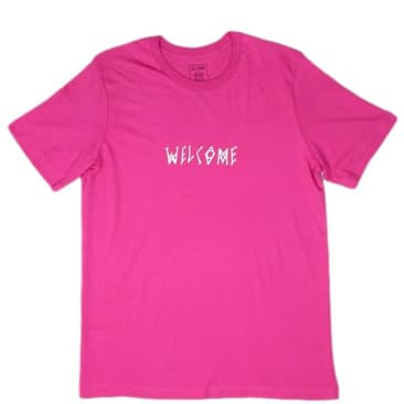 Welcome Skateboards Scrawl T-Shirt - Pink / White