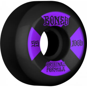Bones 100's V5 Sidecut 55mm Wheels (Black)