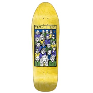 """New Deal Templeton Crowd SP Deck Yellow 10.13"""""""