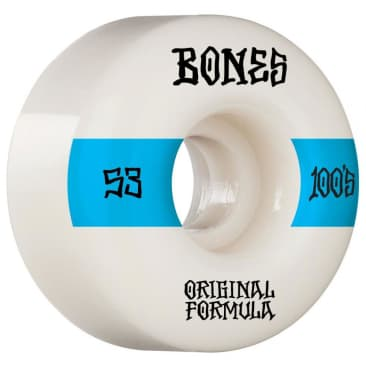 Bones Wheels 100's #14 V4 Wide 53mm - White