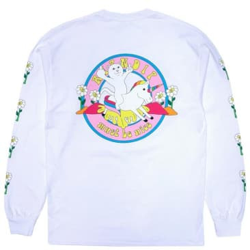 Ripndip Unicorn Rider Long Sleeve T-Shirt - White