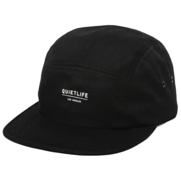 Quiet Life Crush 5 Panel Camper Hat Black