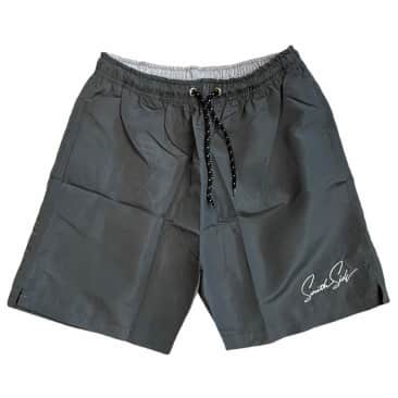Southside Script Water Short Embroidered Dark Gray