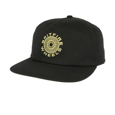 Spitfire Classic Swirl Snap Back - Black/Gold