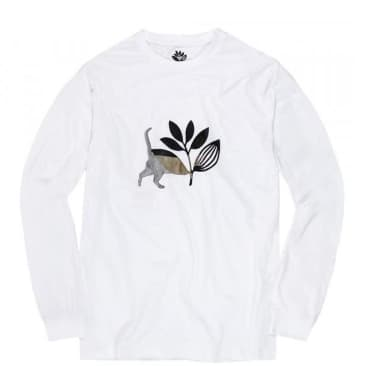 Magenta Skateboards Cat Long Sleeve T-Shirt - White