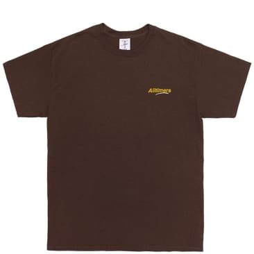 Alltimers Embroidered Estate T-Shirt - Brown