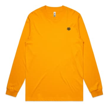 WC Monogram Embroidery L/S Tee - Gold/Black