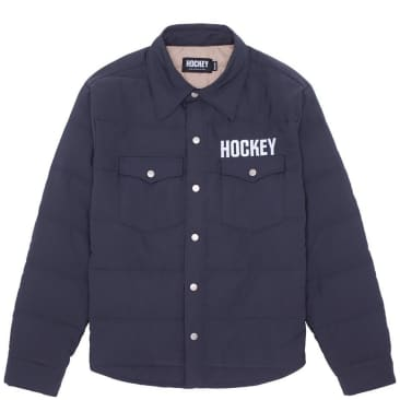 Hockey Down Snap Shirt - Black