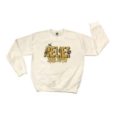 Relief Honey Bee CrewNeck Sweater White