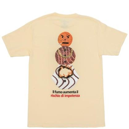 Quartersnacks Smokers Warning Snackman T-Shirt - Natural