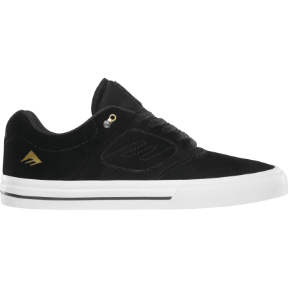 Emerica Reynolds 3 G6 Vulc Skateboarding Shoe - Black/White/Gold
