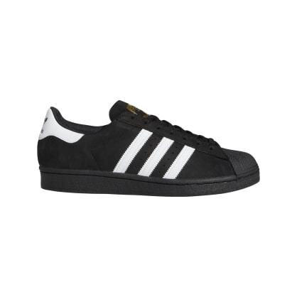 Adidas Superstar ADV Skateboarding Shoes - Core Black/FTWR White/Gold Met