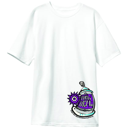 New Deal Skateboards Spray Can T-Shirt - White