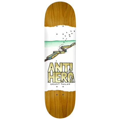 """Anti Hero Skateboards - 8.12"""" Grant Expressions Deck - Various Wood Stains"""