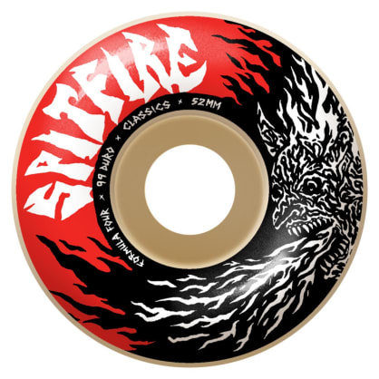Spitfire - 52mm (99a) Fiend Formula Four Skateboard Wheels - Classics