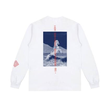 The National Skateboard Co. Buck Long Sleeve T-Shirt - White