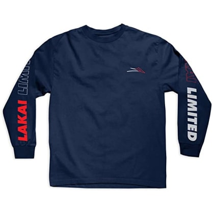 LAKAI RACING L/S TEE - NAVY