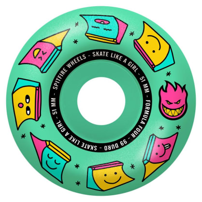 Spitfire x Skate Like A Girl Formula Four 51mm 99A Radial Wheels (Mint)