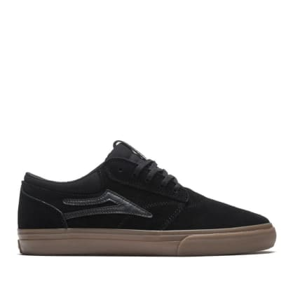 Lakai Griffin Suede Skate Shoes - Black / Gum