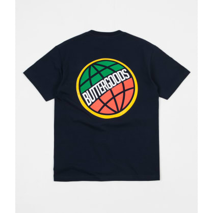 Butter Goods 3D World Wide Logo Tee Navy