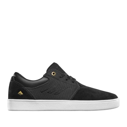 Emerica Alcove CC Skate Shoes - Black / White / Gold
