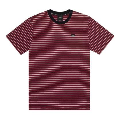 HUF Davis Striped Knit Tee Red Pear