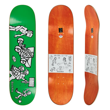 Polar Skate Co Nick Boserio Cash Is Queen Green Skateboard Deck - 8.375""