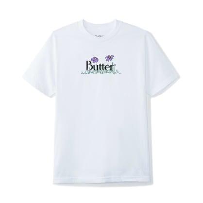 Butter Goods Flowers Classic Logo T-Shirt - White